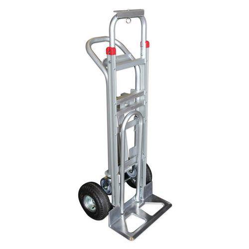 Carro transportador combinado de 250kg e 350kg – 3 posições – Rodas pneumáticas