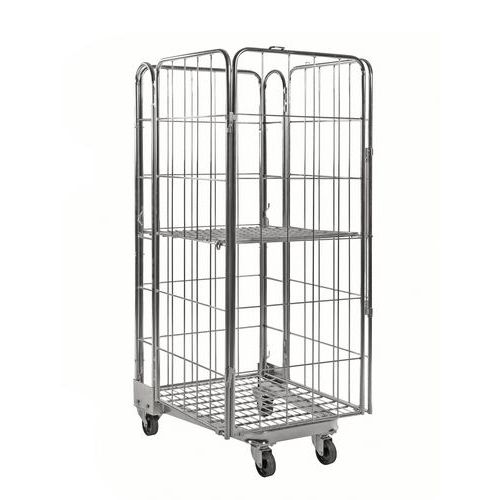 Contentor móvel encaixável com 4 lados – Capacidade: 400kg