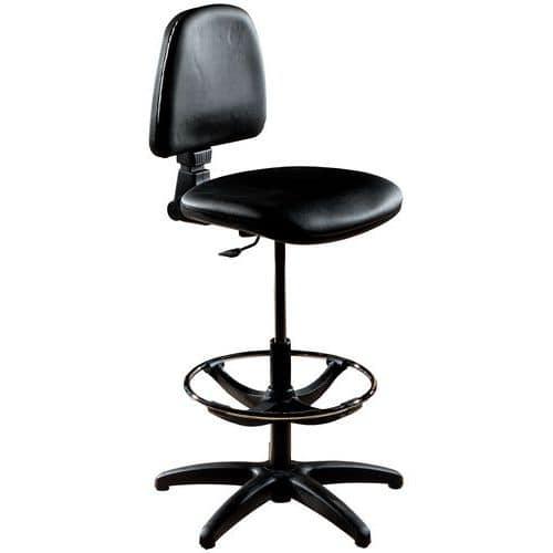 Cadeira de oficina alta – Com patins