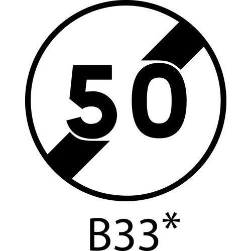 Painel de sinalização - B33 - Final da limitação de velocidade a indicar