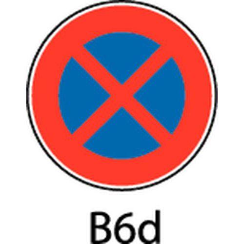 Painel de sinalização - B6d - Paragem e estacionamento proibidos