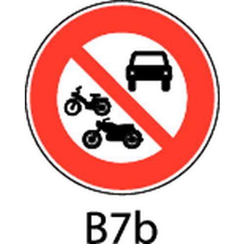 Painel de sinalização - B7b - Acesso proibido a qualquer veículo a motor