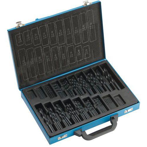 Caixa de brocas laminadas HSS - 170 peças