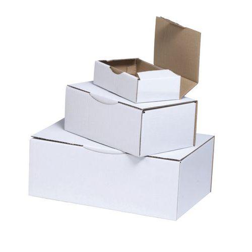 Caixa de expedição cartão kraft multiusos - Com lingueta - Branco