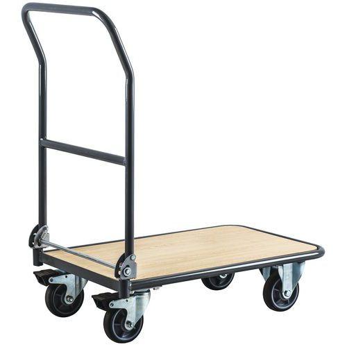 Carro em aço de espaldar rebatível – Capacidade: 250kg – Manutan