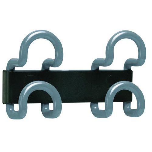 Gancho de parede em fio – 2 ganchos duplos – Unilux