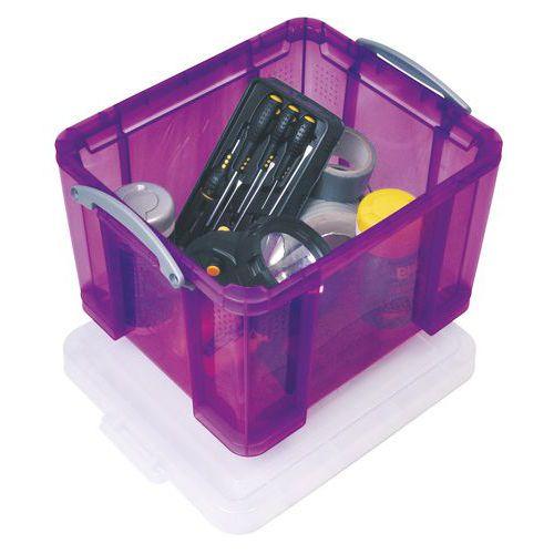 Caixa de arrumação - Comprimento 480 mm - Translúcido