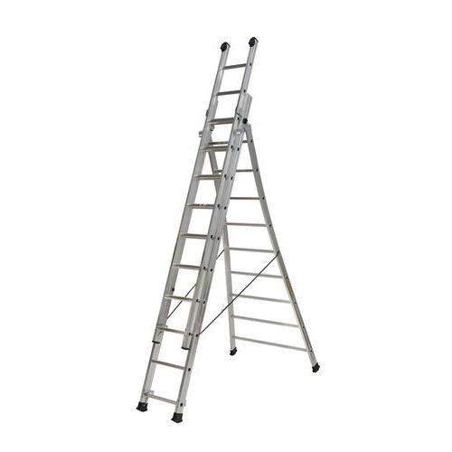 Escada transformável com base alargada PRT3 – 3 secções