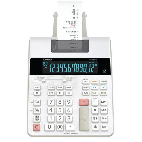 Calculadora com impressora – FR-2650RC-W-EH – Casio