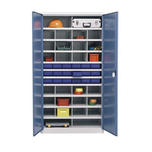 Armário de arrumação de componentes 1000 - 28 compartimentos - Profundidade de 53,5 cm