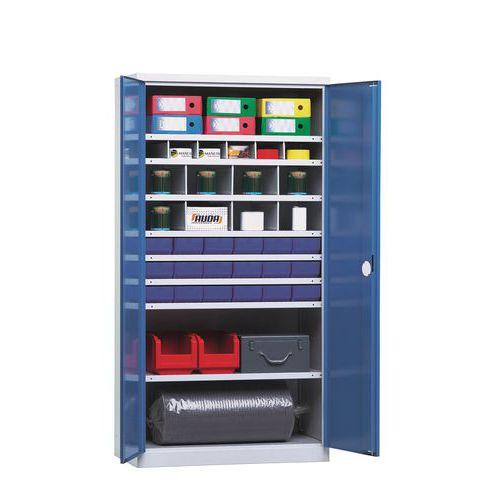 Armário de arrumação de componentes 1000 - 14 compartimentos - Profundidade de 43,5 cm