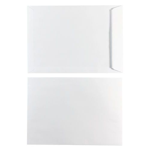 Envelope kraft branco HB autocolante