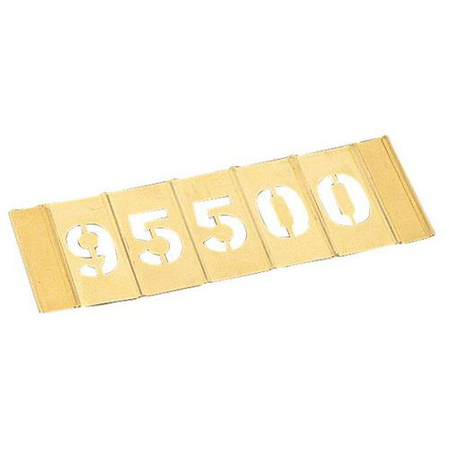 Stencil em latão - Jogo de 15 números