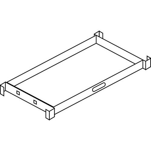 Estrutura extraível para pastas suspensas para armário de oficina Kind