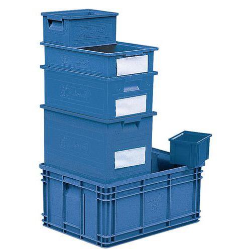 Caixa empilhável com dimensões específicas - Azul