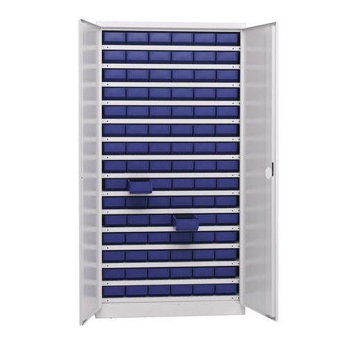Armário de arrumação de componentes 1000 - 90 caixas - Profundidade de 43,5 cm