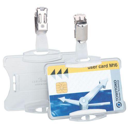 Porta-crachás para cartão de segurança - Com clipe