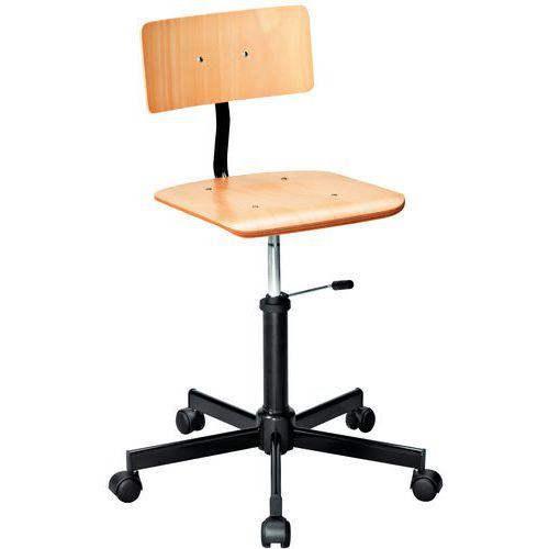 Cadeira de oficina em madeira – baixa