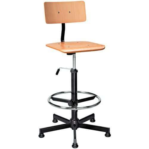 Cadeira de oficina em madeira – alta