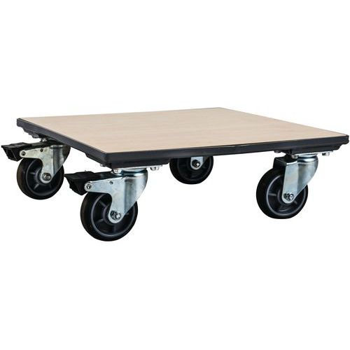Plataforma móvel em madeira – Capacidade: 500kg – Manutan