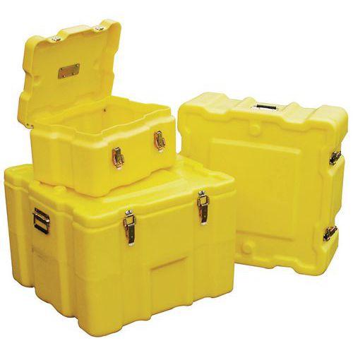 Contentor de transporte amarelo