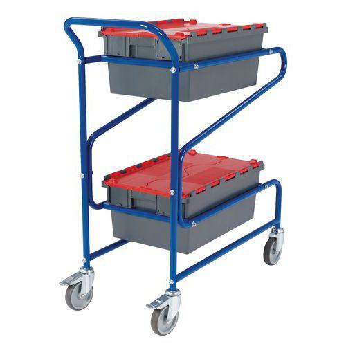Carro aço para caixas - Comprimento 975 mm