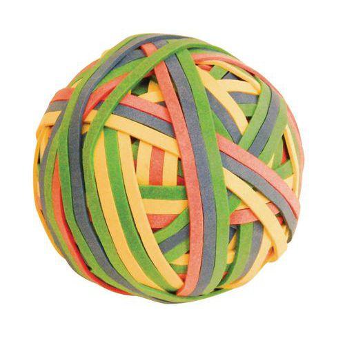 Bola de 200 braceletes em borracha - Cores sortidas
