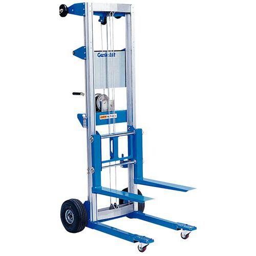 Empilhador manual Genie Lift ergonómico – Capacidade de carga de 180 a 225kg – Padrão