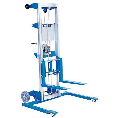 Empilhador manual Genie Lift - Capacidade de 160 a 225 kg - Regulável