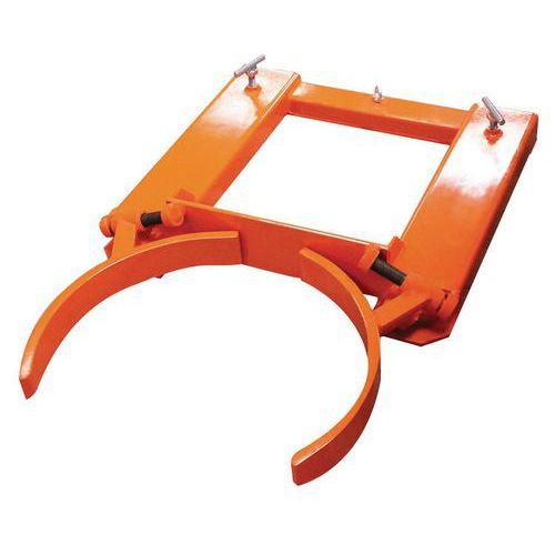 Pinça vertical ajustável para bidões de 220L – capacidade de 440kg