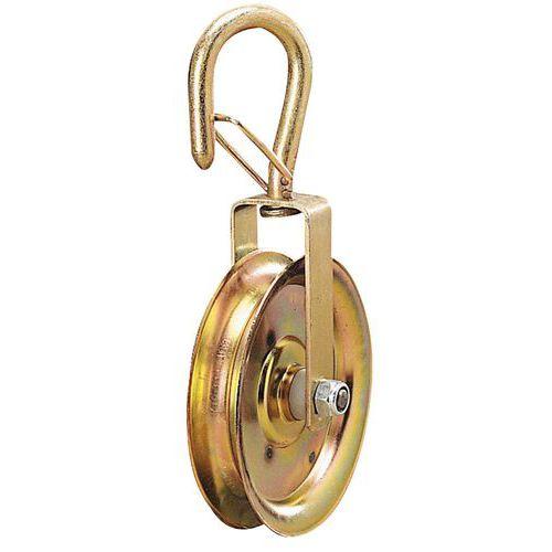 Polia de roda livre para corda de Ø 20 a 22mm – Capacidade de 160kg