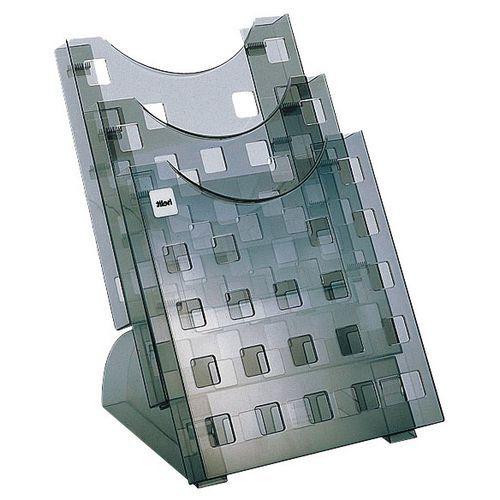 Expositor para brochuras A4 – 3 compartimentos – Helit