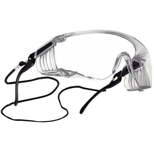 Protetores de óculos com hastes reguláveis