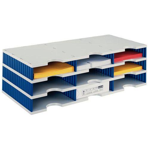 Sistema de arrumação Styrodoc - 9 compartimentos