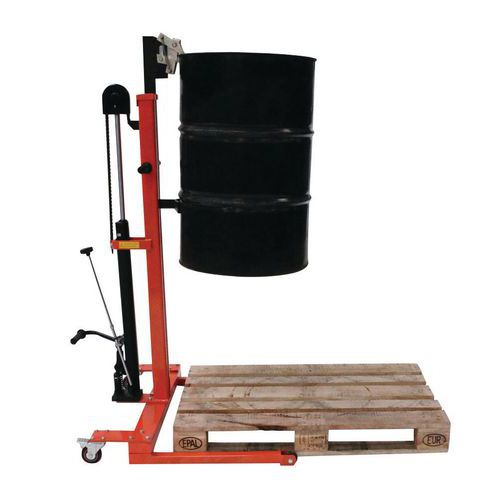 Elevador de bidões hidráulico – capacidade de 300kg