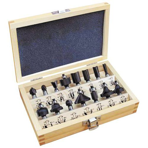 Caixa de fresas carboneto para fresadora - 15 peças
