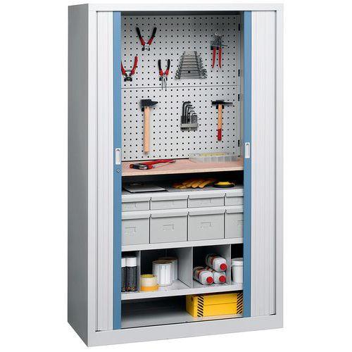 Armário com portas de persiana universal - Com gavetas - Perfo