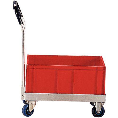 Plataforma móvel em alumínio - Para caixas de norma europeia - Capacidade de 500 kg