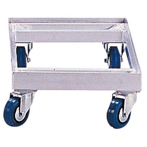 Plataforma móvel em alumínio - Para caixas de norma europeia - Capacidade de 350 kg