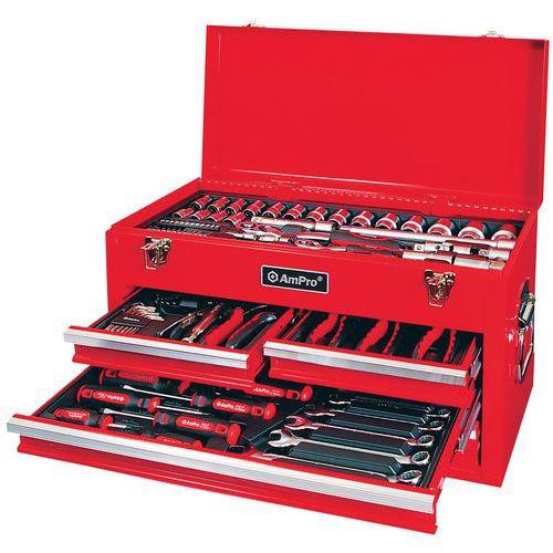 Caixa de ferramentas AmPro equipada com 117 peças