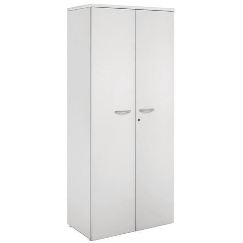 Armário com portas rebatíveis - Cinzento claro - Manutan