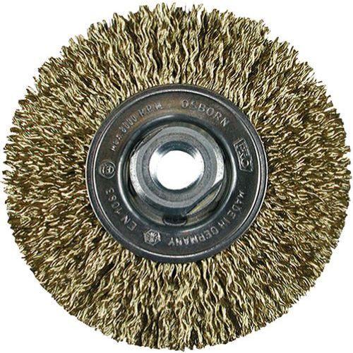 Escova circular em fio ondulado