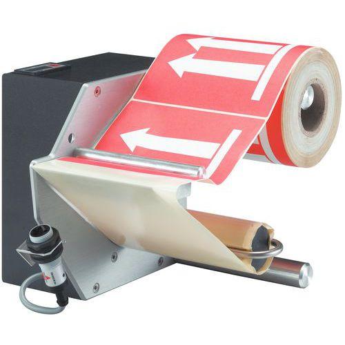 Distribuidor elétrico de etiquetas - Largura: 110 mm
