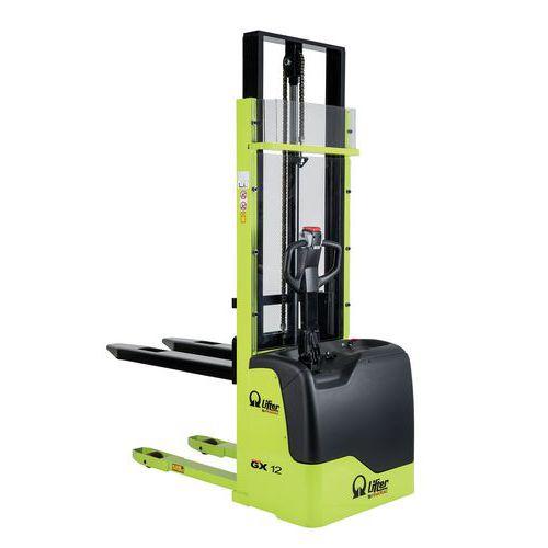 Empilhador elétrico ergonómico GX – Capacidade de 1200kg