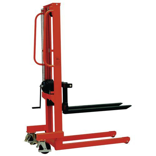 Empilhador manual – Comprimento dos garfos: 1000mm – Capacidade: 500kg