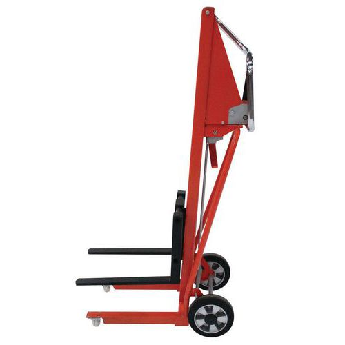 Miniempilhador manual – Comprimento dos garfos: 50mm – Capacidade de 120kg
