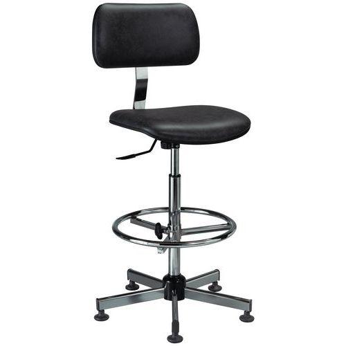 Cadeira de laboratório ergonómica – Alta – Com rodas