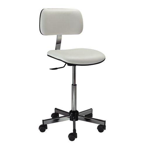 Cadeira de laboratório ergonómica – Baixa – Com rodízios