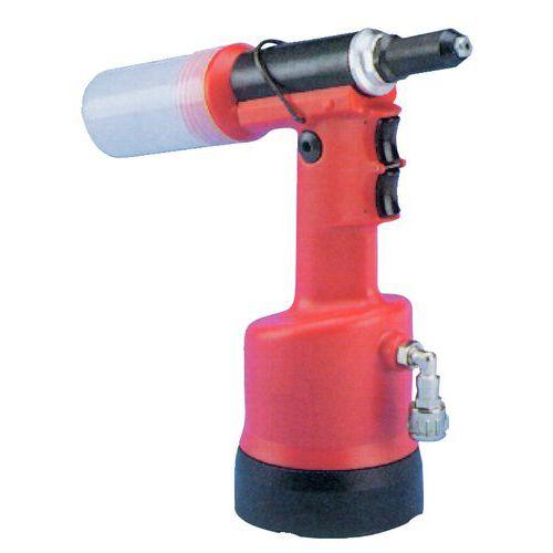 Pistola óleo-pneumática com aspiração ultraleve.