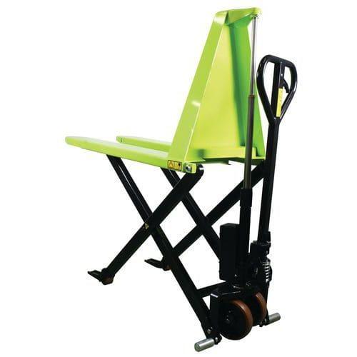 Porta-paletes manual ergonómico de grande elevação – capacidade de 1000kg – Pramac